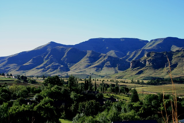 drakensberg mountains, mountain range, landscape