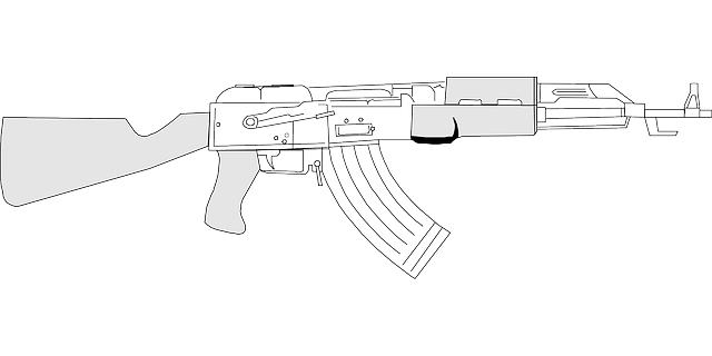 drawing, tools, weapons, gun, machine, weapon, coloring