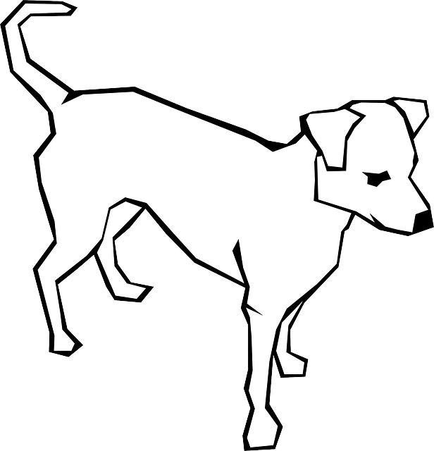drawn, sketch, cartoon, dog, straight, dogs, lines