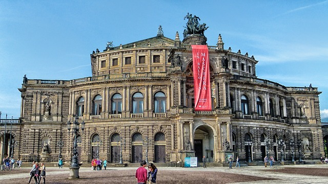 dresden, germany, opera house, arts, classical