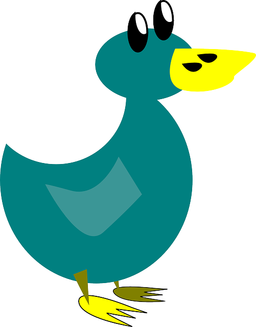 duck, duckling, bird, waterfowl, water bird, cartoon