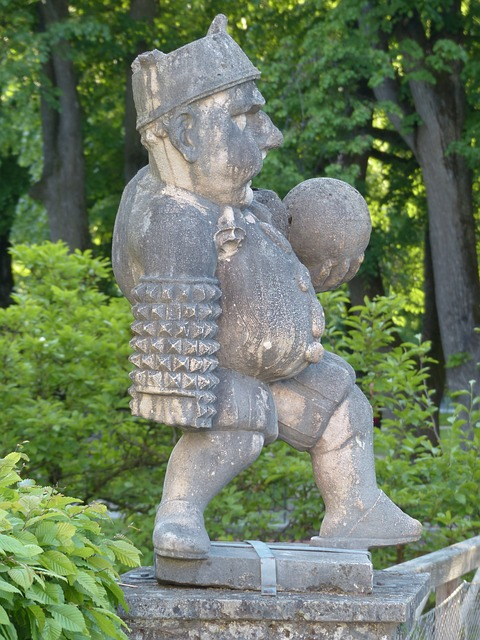 dwarf, gnome, fig, sculpture, globe, belly, thick