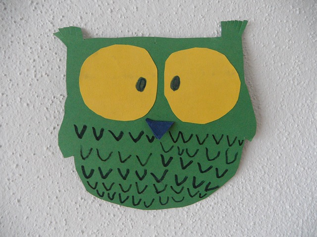 eagle owl, owl, do it yourself, paper, homemade