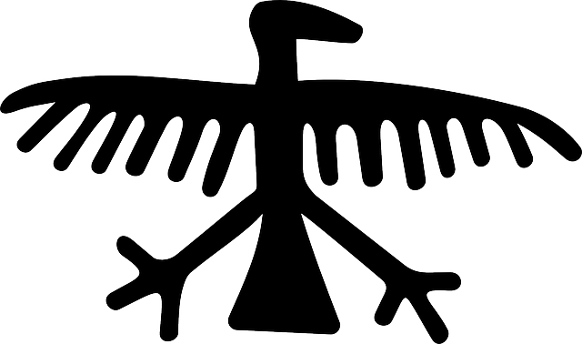 eagle, petroglyph, art, bird, rock