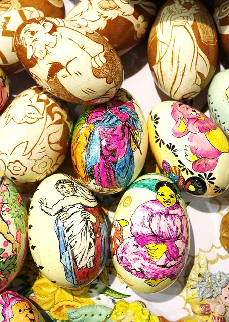 easter, easter eggs, colored, color, paint, painting