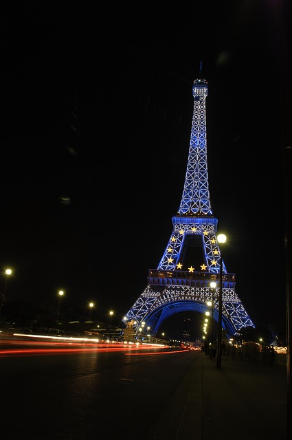 eiffel tower, paris, night shot, night, eiffel, tower