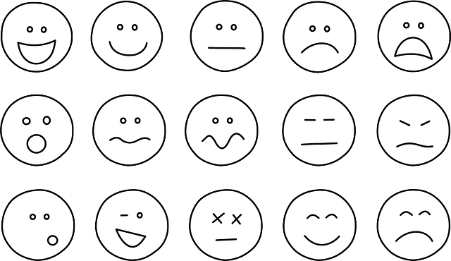 emoticons, smiley, smilies, simple, set, emotions