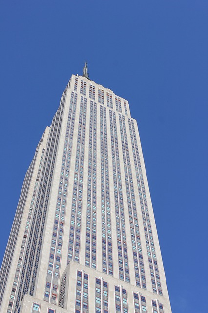 empire state building, building, tall, silver, new york