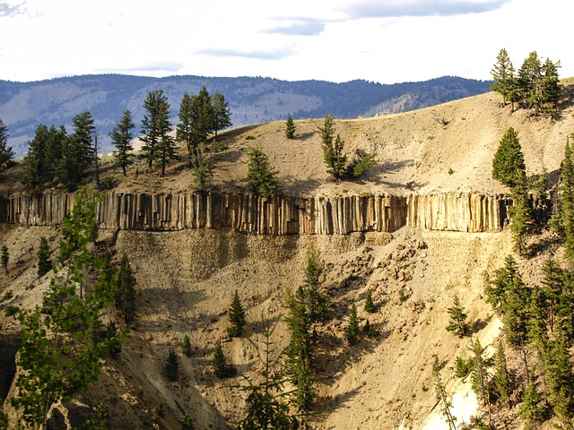 erosion, yellowstone national park, wyoming, usa