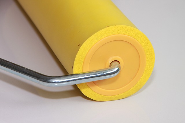 eva, roller, rubber, seam, wallpaper, yellow, tools