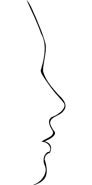 face, head, profile, silhouette