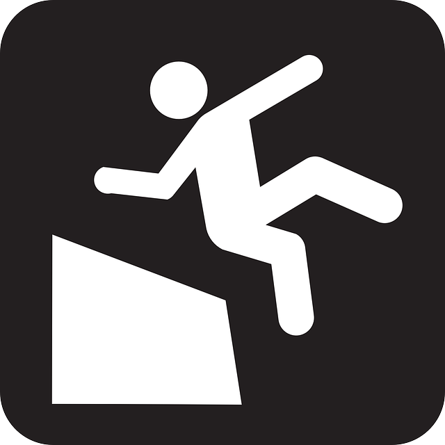 falling, dropping, drop, man, slope, cliff, black