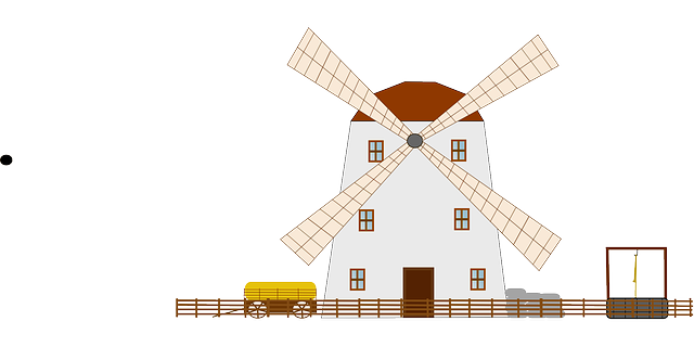 farm, power, mill, wind, windmill, powered