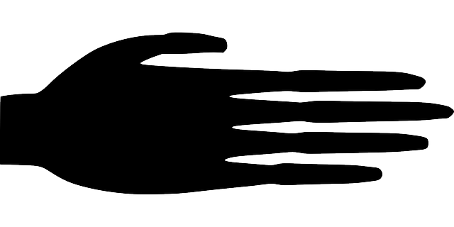 fingers, hand, palm, silhouette