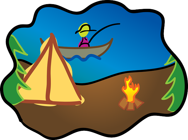 fire, kids, cartoon, free, boat, camping, cartoons