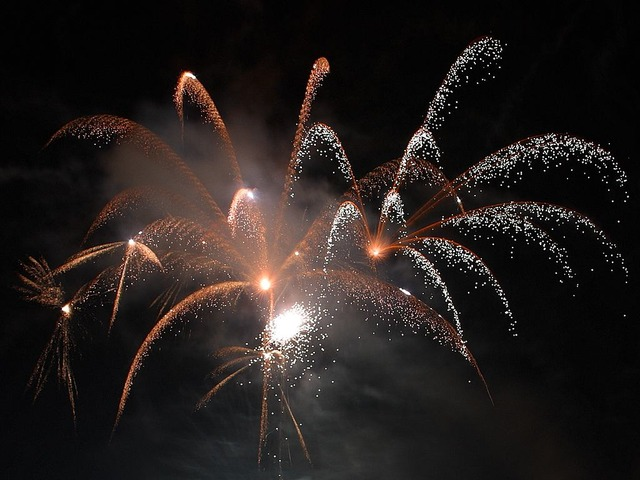 firework, colours, night, explosions, sylvester
