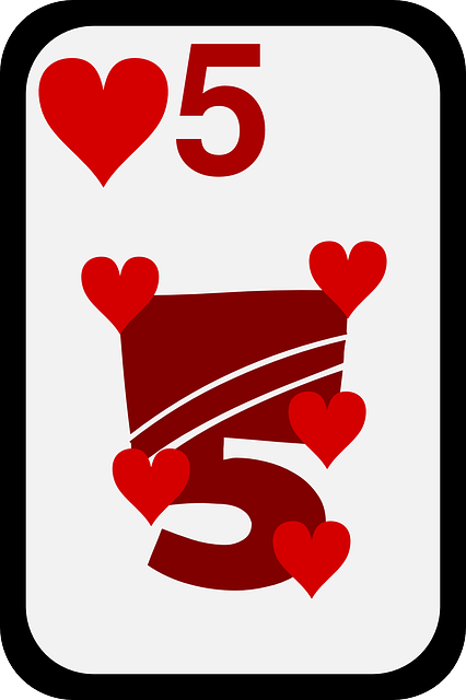 five, casino, game, cards, play, hearts, poker, bet