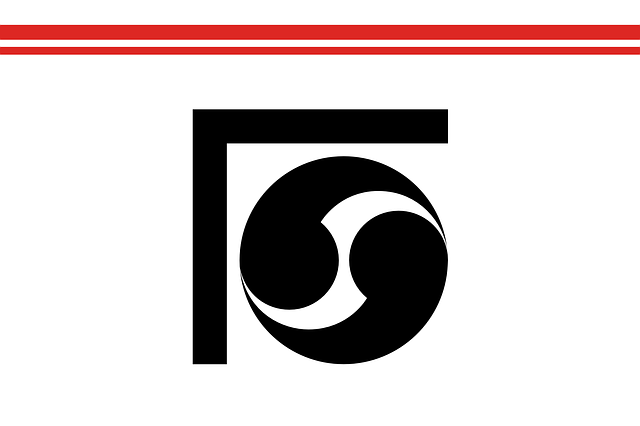 flag, black, circle, yang, asia, japan, japanese, asian