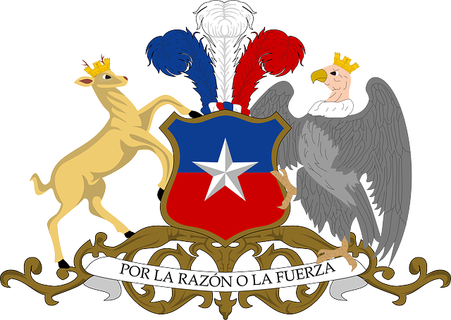 flag, red, blue, star, white, deer, eagle, coat, arms