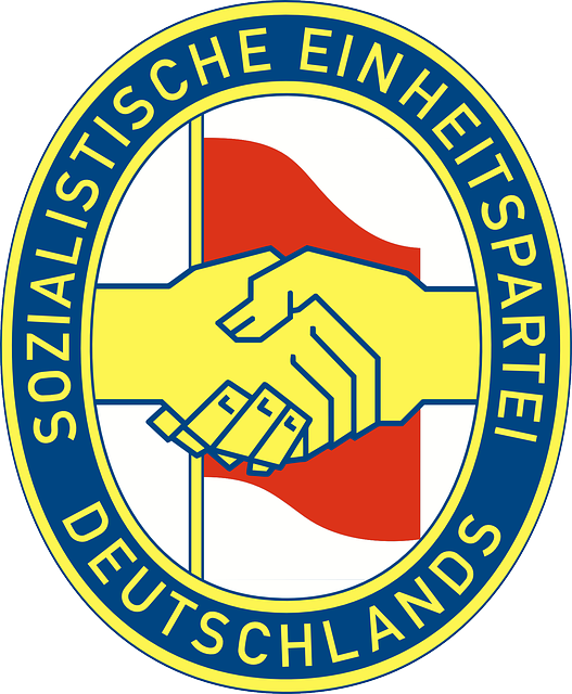 flag, red, hands, logo, piece, agreement, shake, hand