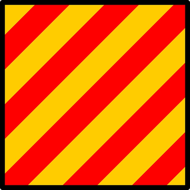 flag, red, yellow, yankee, stripes, signal, nautical