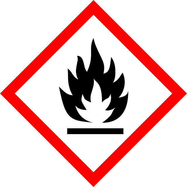 flame, fire, flammable, inflammable, warning, attention