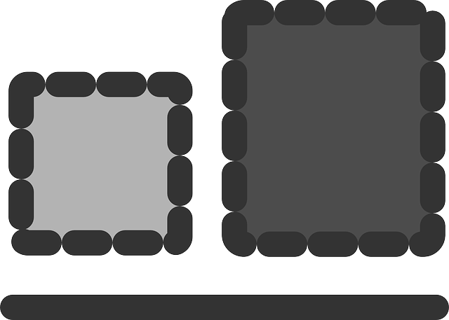 flat, bottom, align, objects, icon