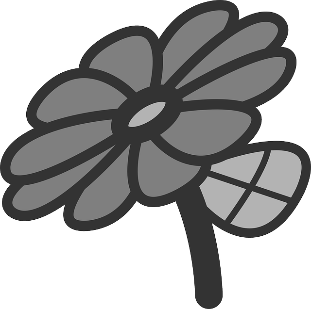 flat, flower, daisy, theme, icon