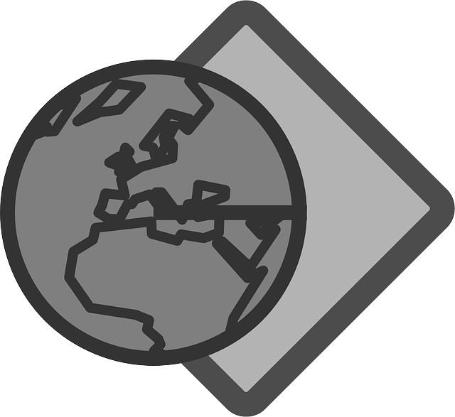 flat, globe, planet, earth, theme, icon