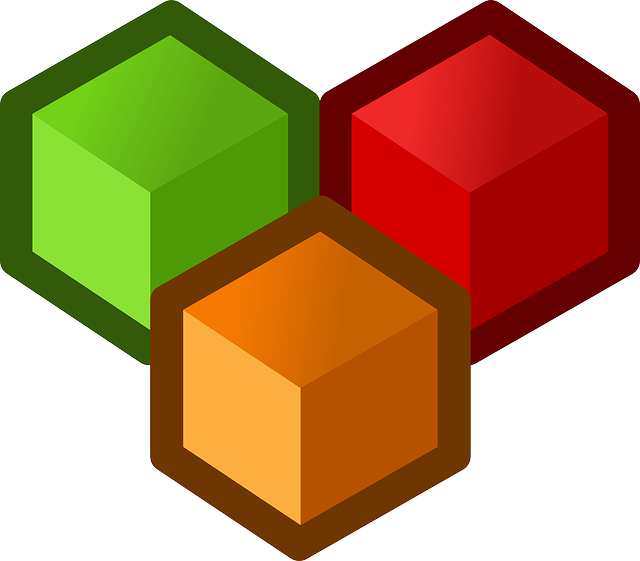 flat, icon, design, shapes, cube, cubes, designing