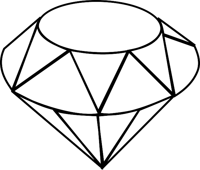 flat, icon, diamante, sketch, cartoon, diamond, free