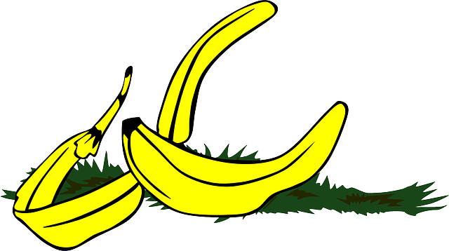 flat, icon, fruit, don, cartoon, banana, bananas, peel