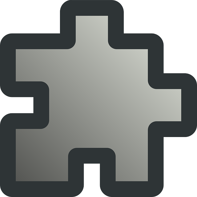 flat, icon, grey, puzzle, piece