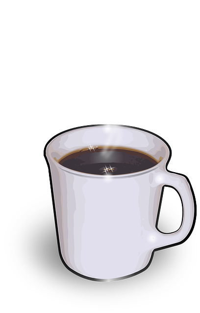 flat, icon, hot, java, mug, coffee