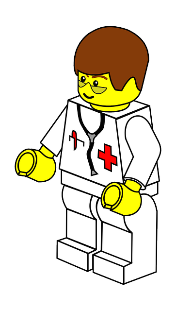 flat, icon, man, doctor, cartoon, free, toy, lego