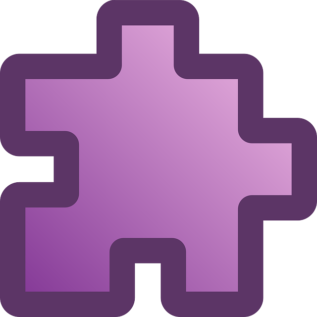 flat, icon, purple, puzzle, piece