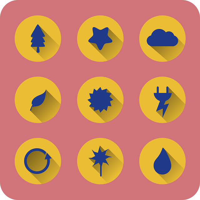 flat, icons, eco, ecology