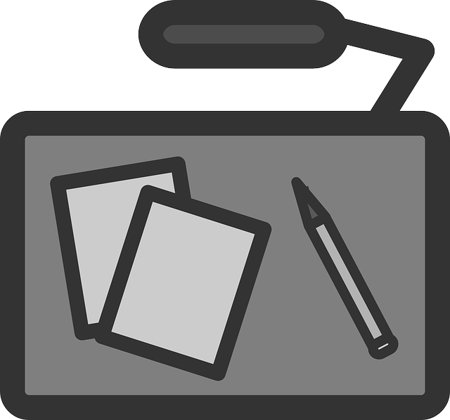 flat, office, desk, theme, icon