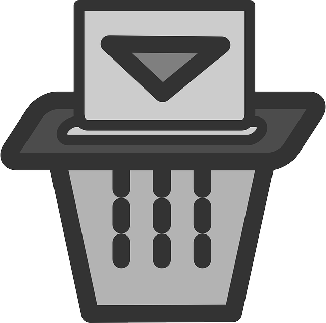 flat, paper, trash, theme, shredder, icon