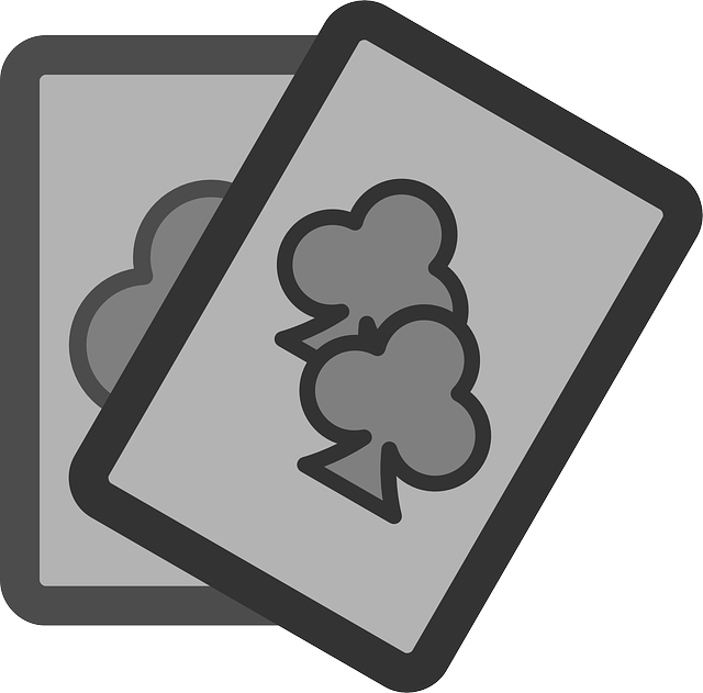 flat, theme, cards, clubs, poker, icon, card, club