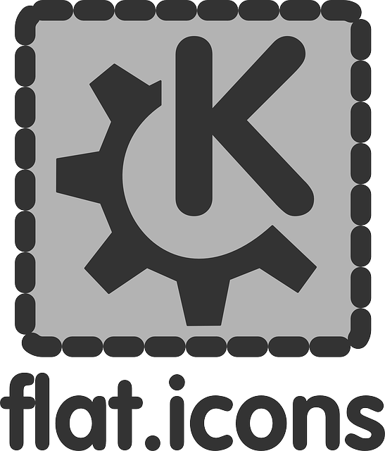 flat, theme, gear, logo, icon