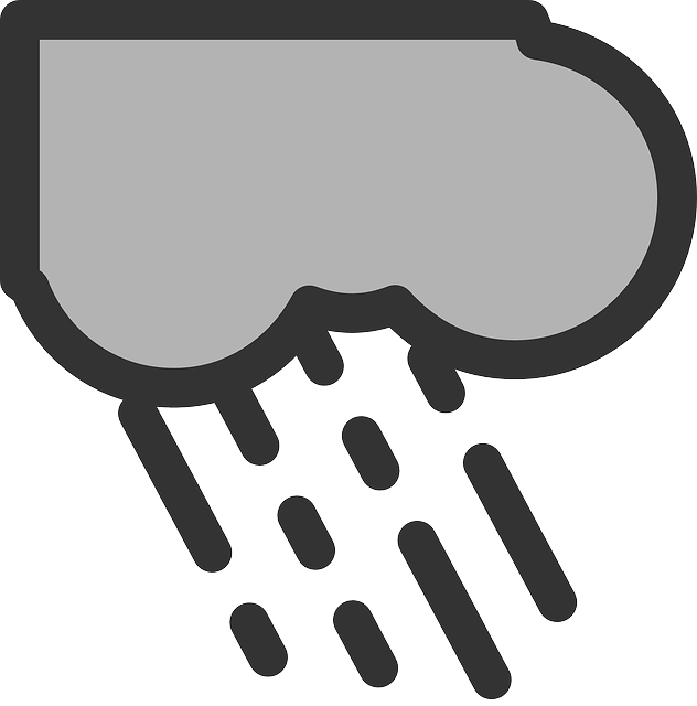 flat, weather, rain, storm, theme, icon