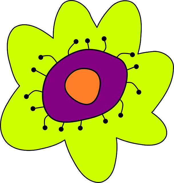 flower, flowers, cartoon, plant, garden