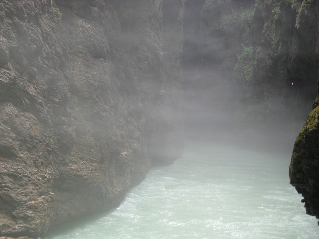 fog, epic, gorge, water, nature