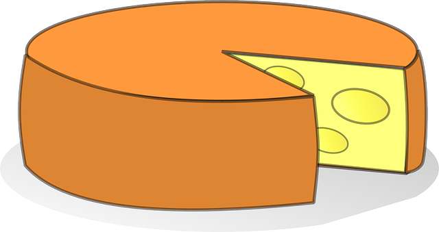 food, slice, cheese, french, yellow, cartoon, orange