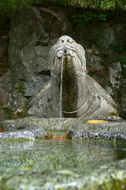 fountain, water, traditional drinking fountain, korea