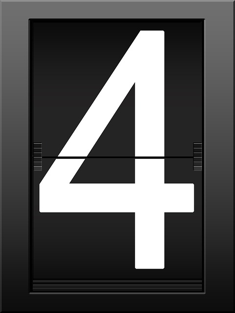 four, i, timeline, display panel, number, digit, ad