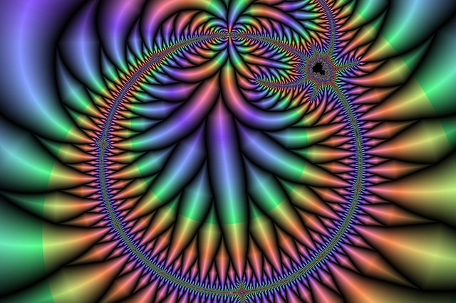 fractal, art, colorful, computer graphic, surreal