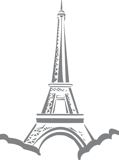 france, eiffel, tower, black, icon, simple, french