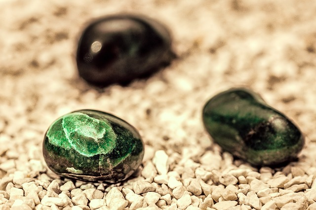 gem, mineral, pebble, stone, aquamarine, green, geology
